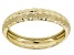 10k Yellow Gold Diamond Cut Band Ring