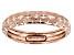 10k Rose Gold Diamond Cut Band Ring