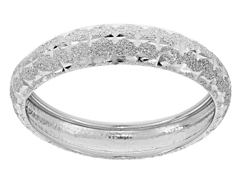 Picture of Rhodium Over 10k White Gold Diamond Cut Band Ring