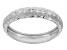 Rhodium Over 10k White Gold Diamond Cut Band Ring
