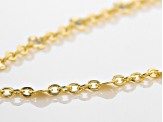 10k Yellow Gold Cable Link Neckalce 18 inch