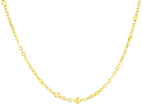 10k Yellow Gold Cable Link Neckalce 20 inch