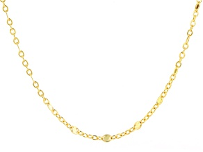 10k Yellow Gold Cable Link Neckalce 24 inch