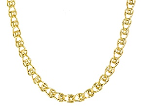 10k Yellow Gold Hollow Love Link Chain Necklace 18 inch 3.5mm