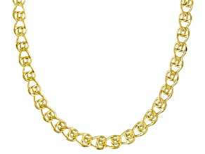 10k Yellow Gold Hollow Love Link Chain Necklace 20 inch 3.5mm