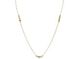 10k Yellow Gold Hollow Rolo Link Necklace 32 inch