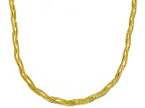 10k Yellow Gold Braided Herringbone Link Necklace 18 inch
