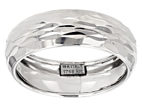 10k White Gold Band Ring
