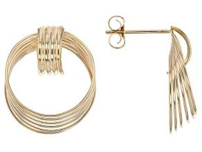 10k Yellow Gold Hollow Door Knocker Earrings