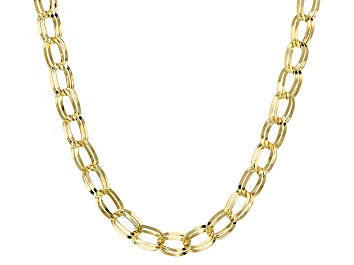 Picture of 10k Yellow Gold Hollow Curb Link Necklace 22 inch