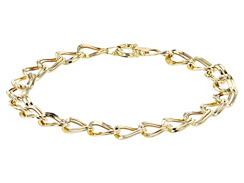 Top 10 Jewelry Gift 10k Hollow Double Link Charm Bracelet