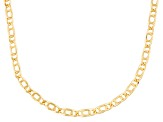 10k Yellow Gold Hollow Marquise Link Necklace 20 inch
