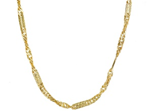10k Yellow Gold Curb Link Necklace 24 inch