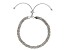 10k White Gold Byzantine Link Sliding Adjustable Bracelet