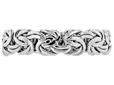 10k White Gold Hollow Byzantine Link Band Ring