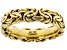 10k Yellow Gold Hollow Byzantine Link Band Ring
