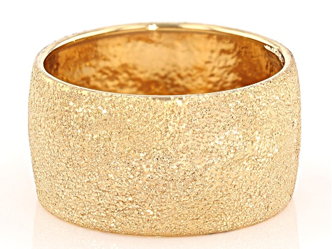 10k Yellow Gold Hollow Textured Band Ring