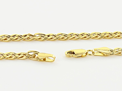 10k Yellow Gold Hollow Double Curb Link Necklace 20 inch