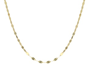 10k Yellow Gold Cable Link Necklace 18 inch