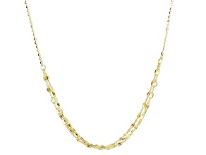 10k Yellow Gold Cable Link Choker Necklace 14 inch