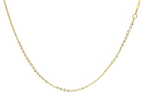 10k Yellow Gold Cable Link Necklace 36 inch