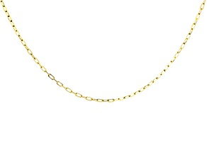 10k Yellow Gold Cable Link Sliding Adjustable Chain Necklace 20 inch