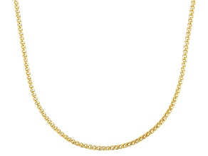 10k Yellow Gold Curb Link Sliding Adjustable Chain Necklace 20 inch