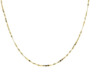 10k Yellow Gold Bar Link Necklace 18 inch