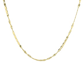 10k Yellow Gold Bar Link Necklace 20 inch