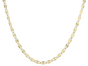 10k Yellow Gold Bar Link Necklace 24 inch