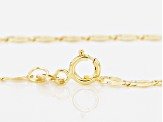 10k Yellow Gold And Rhodium Over 10k Yellow Gold Cable Link Necklace
