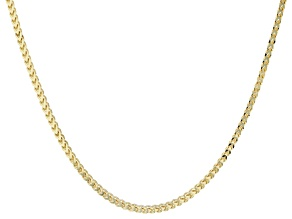 10k Yellow Gold Wheat Link Necklace 18 inch