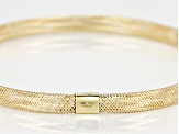 10k Yellow Gold Hollow Stretch Mesh Bangle Bracelet 5mm