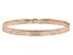 10k Rose Gold Mesh Link Bangle Bracelet 7 inch