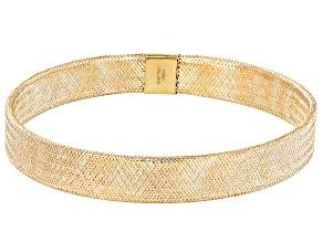 10k Yellow Gold Mesh Link Bracelet 7 inch