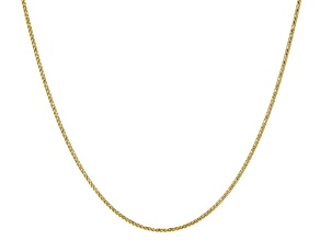 10k Yellow Gold Wheat Link Chain Necklace 20 inch