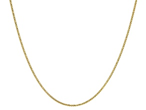 10k Yellow Gold Wheat Link Chain Necklace 24 inch
