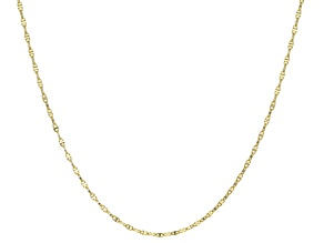 10k Yellow Gold Mariner Link Chain Necklace 18 inch