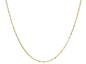 10k Yellow Gold Mariner Link Chain Necklace 20 inch