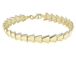 10k Yellow Gold Triangle Link Bracelet 7.5 inch