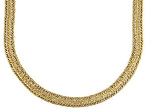 10k Yellow Gold Hollow Curb Link Necklace 20 inch
