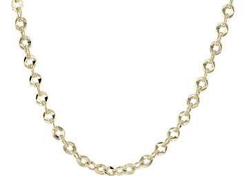 4b6202705dcec 10k Yellow Gold Hollow Singapore Link Chain Necklace 20 inch 2.5mm ...