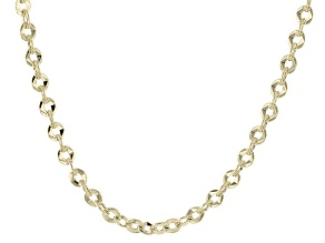 10k Yellow Gold Hollow Cable Link Chain Necklace 20 inch 3.5mm
