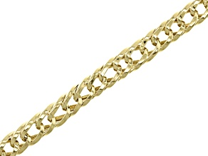 10k Yellow Gold Hollow Wheat Link Bracelet 7.75 inch 5.5mm