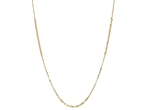 10k Yellow Gold Hollow Rolo Link Necklace 24 inch
