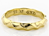 10k Yellow Gold Hollow Band Ring