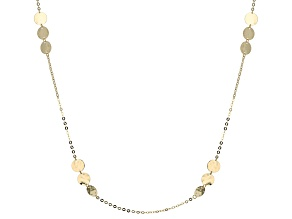 10k Yellow Gold Station Necklace 32 inch