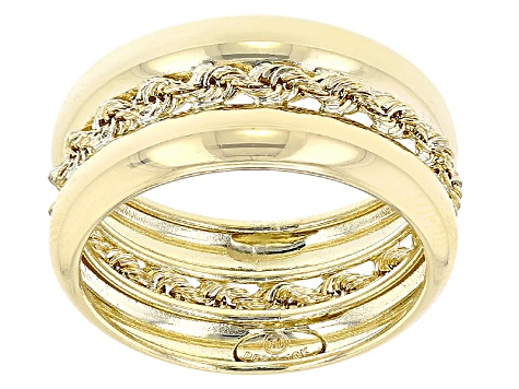 10k Yellow Gold Band Ring