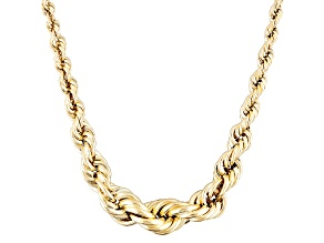 10k Yellow Gold Rope Link Necklace 20 inch 5.5mm