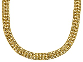 10k Yellow Gold Hollow Wheat Link Necklace 18 inch